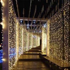 X M Led Light Warm White Curtain String Fairy Lights , x m led-licht warmweißer vorhang string lichterketten , , x m led lumière blanc chaud rideau guirlande lumineuse , x m led light cadena de cortina blanca cálida luces de hadas