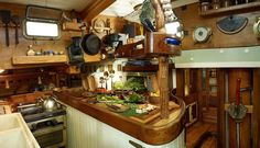 vintage houseboat interiors - Google Search