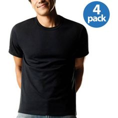 XL $10 for 4 pk, Hanes Men's FreshIQ ComfortSoft Dyed Crew Neck T-Shirts 4-Pack