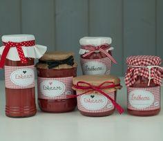 Marmeladenetikett - rot kariert von bei.werk ★ prints & more auf DaWanda.com