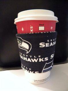 Seattle Seahawks Coffee Sleeve Cozie  NLF by KutieStuff on Etsy, $3.75