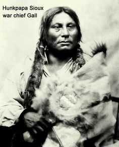Gall (Pizi) (1840-1894) Hunkpapa Sioux War Chief. Gall was a distinguished hunter-warrior, adopted by Sitting Bull as a younger brother. He was also Sitting Bull's lieutenant. At the Little Big Horn, Gall led the warriors that blocked and thwarted Reno's column from coming close to the Sioux and Cheyenne encampment. Reno and his troopers were stopped and defeated, and forced to retreat, allowing Gall to divert warriors to Crazy Horse to complete the annihilation of Custer's detachment.