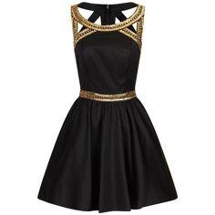 Black n gold cocktail dresses ivory