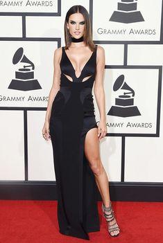 Alessandra Ambrosio - Grammy's -- Noudar jewelry; Giuseppe Zanotti shoes.
