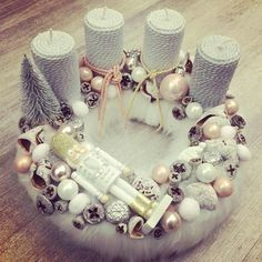 Winter Christmas, Christmas Time, Christmas Wreaths, Christmas Decorations, Xmas, Advent Box, Advent Wreath, Winter Theme, Vintage Lace