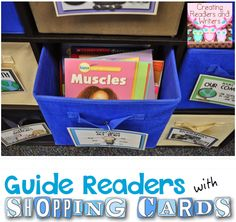 """How to Guide Young, Emergent Readers with """"Shopping Cards"""" and a Link to a FREE Shopping Card Template (Blog Post from Creating Readers and Writers) #classroomlibrary #independentreading #justrightbooks"""