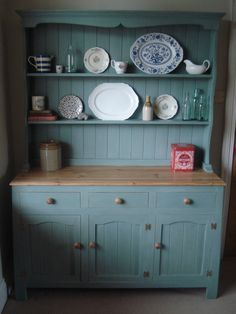 Painted rustic welsh dresser