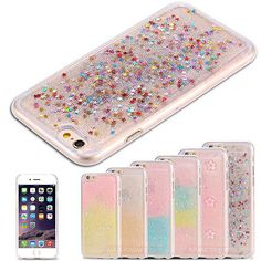 TPU Candy Glitter Rainbow Star Gel Silicone Case Cover For Apple iPhone 5 5s SE | Cases & Covers | Mobile Phone & PDA Accessories - Zeppy.io