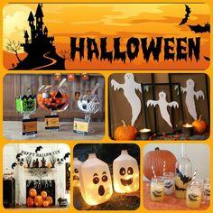 ideas para una fiesta HalloWeen!..en colores naranja, blanco y negro!...mas en mi facebook: Susanita´s Cakes...#halloween #halloweenparty #ideas #ideasfiesta #decoracionhalloween