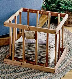 wooden newspaper holders for the home | Newspaper Bundling Box | Lintcoat | Online Magazine for Music, Gadgets ...