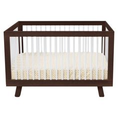 Babyletto Hudson 3-in-1 Convertible Crib with Toddler Rail - Espresso/White.Opens in a new window