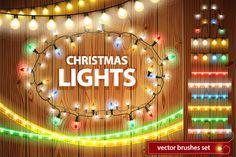 Christmas Lights Decorations Set by Voysla's Shop on Creative Market