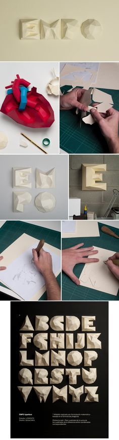 EMPO hand-made paper typeface from Lo Siento