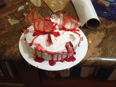 Edible Blood and Glass Gory Cake
