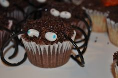 Spider cupcakes that I made for the twins 7th birthday school party.  Their friends LOVED them.