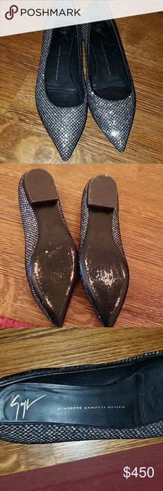 Giuseppe Zanotti flats authentic great condition Giuseppe flats no damages just some wear on the bottom . no box . Giuseppe Zanotti Shoes Flats & Loafers