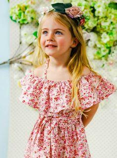 Imogen Primrose Dress - Flower Crown