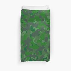 'Green camo design' Duvet Cover by MidnightBrain Camo Designs, Duvet Bedding, College Dorm Bedding, Bed Covers, Duvet Insert, Printed, Awesome, Green, People