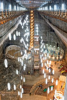 Turda Salt Mine- is a salt mine situated in Turda, Transylvania, Romania. Recreational facilities include a mini-golf course, The Big Wheel (20 meters high, with six gondolas), a sports terrain, a children's play area, an amphitheater and the possibility to rent a boat and explore.Turda salt mine microclimate has a proper behavior and factors that provide optimal conditions for the implementation of various rehabilitation therapies in internal diseases and in prevention and sanogeneză.