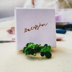 #regram of @heliotropia's glamourous green cocktail ring creation at one of our crafty #henparty jewellery workshops yesterday. Always a delight to see the results of our #craftyhens hard work. #craftyhenparty #brightonhenparty #thecraftyhen