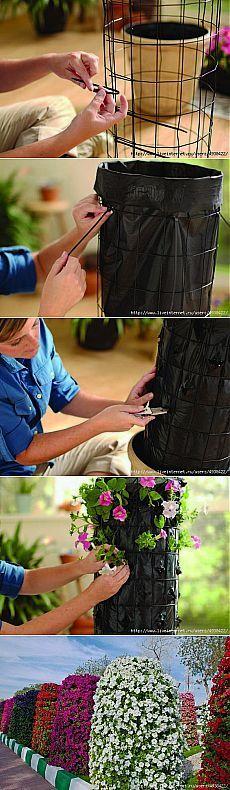 Вертикальная клумба для цветников..