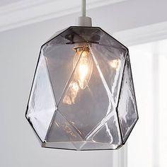 Ebba Faceted Glass Easy Fit Pendant | Dunelm Flush Lighting, Pendant Lighting, Lamp Shades, Light Shades, Glass Material, Faceted Glass, Light Decorations, Light Up, Ceiling Lights