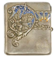 Art Deco Movement, Arts And Crafts Movement, Horse Tail, Pin Pics, Cigarette Case, Smoking Accessories, Russian Art, Retro, Antique Silver