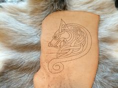 Leder Dragon Wikinger Viking Mittelalter Aplikation von Elbengard