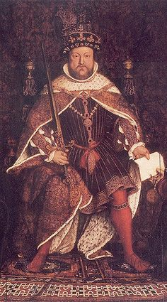 Henry VIII of England reigned the Hans Holbein the Younger.This painting was commissioned by the Barber-surgeons and has since been damaged and altered.I have cropped the figure of Henry VIII from the painting. Tudor History, British History, History Medieval, Henry Viii Family Tree, Henry Viii Children, Rey Enrique Viii, Die Tudors, Dinastia Tudor, Henry Viii