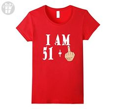 Women's 52th Birthday Made in 1965 Gift ideas Funny Man T shirt Small Red - Birthday shirts (*Amazon Partner-Link)