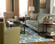 Slim tapered arms and a tightly padded back make the Digby Sofa by Flexsteel feel roomy even in smaller areas. Its exclamation-point arm is finished with a tall tapered leg to add visual height, and the tight back enhances the architectural feel of this style while offering surprising comfort.