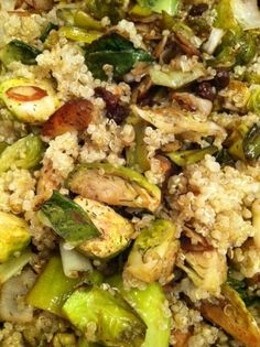 Year of Quinoa (with Brussels, Leeks, Almonds)
