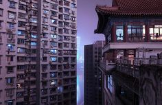 Between Two Worlds, Chongqing, 2016 by Marilyn Mugot Source: elayesildogan photography photography design architecture apocalyptic design design fiction Urban Photography, Night Photography, Landscape Photography, Cityscape Photography, Photography Basics, Scenic Photography, Aerial Photography, Landscape Photos, Nocturne