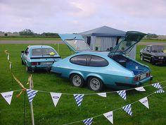 Gjøre om en bakende av bil til tilhenger? Ford Capri, Car Trailer, Camper Trailers, Weird Cars, Cool Cars, Vw Caravan, Hot Rods, Automobile, Custom Trailers