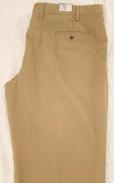 Eddie Bauer Khaki Pants Relaxed Fit Wrinkle & Stain Resistant sz 46 X 30 NEW NWT #EddieBauer #KhakisChinos
