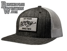 """HOOey, """"Holmes"""" Gray Trucker, Flatbill, Patch, Rodeo, Cowboy Hat, Calf Roping, Team Roping, Timed Event Championships, $29.98, http://www.bunkhousewestern.com/RCK_p/7884.htm"""