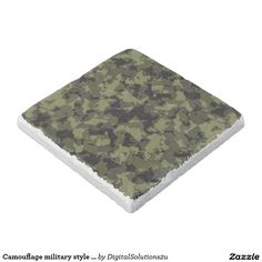 Camouflage military style pattern stone coaster