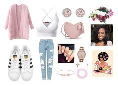 """""""idk how i always end up with pink."""" by rainofbows on Polyvore featuring Doublju, Topshop, Rock 'N Rose, Valfré, Ted Baker, adidas Originals, Chicnova Fashion, Allurez, Geneva and Forever 21"""
