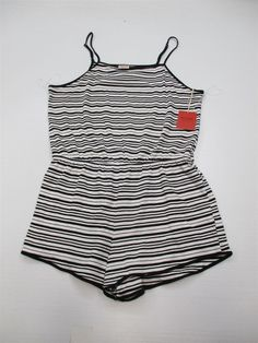 6b285c1aee5 new MOSSIMO Romper Women s Size XL Cotton Black White Stripe Scoop Neck  DR324  fashion  clothing  shoes  accessories  womensclothing   jumpsuitsrompers (ebay ...