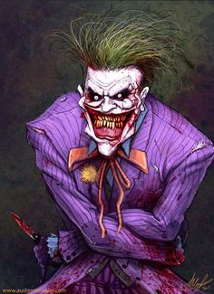 The Joker illustrated by Austen Mengler