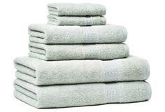 6-Pc Classic Towel Set, Silver Sage