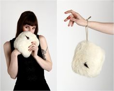 Rabbit Fur MUFFLER by VeraVague