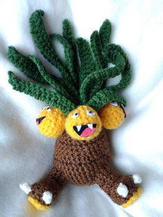 Exeggutor crocheted pokemon funny amigurumi plushie nerdy