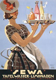 Sewa Soda. Vintage advertisement. #1920s #germany #soda