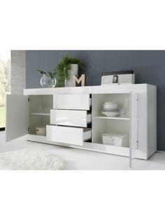Basic Sideboard, White + Wenge by LC Mobili, Italy | SohoMod.com
