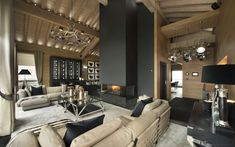 Le Petit Palais is the ultimate luxury ski chalet in Courchevel France, where every imaginable indulgence awaits you - part of the Firefly Collection. Interior Design Inspiration, Home Interior Design, Interior Architecture, Interior And Exterior, Interior Decorating, Design Ideas, Luxury Interior, Deco House, Man Room