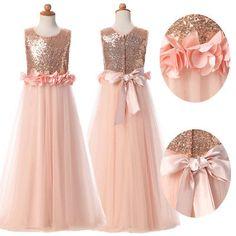 Communion Party Prom Princess Pageant Bridesmaid Wedding Flower Girl Dress 4-14