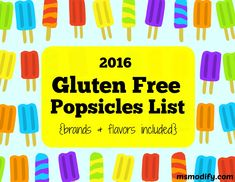 With summer officially right around the corner, nothing cools you off like a refreshing popsicle! If you're gluten free there is nothing worse than being at the grocery store trying to read labels and figure out what you can and...