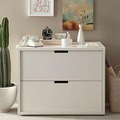Modular File Cabinet - White #westelm