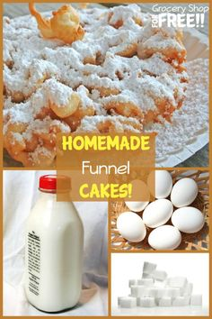 Homemade Funnel Cake! pin